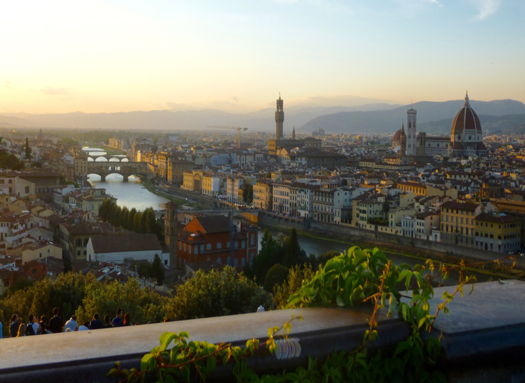 Piazza Michelangelo for a panoramic view over Florence Italy with Seen by Solomon travel blog
