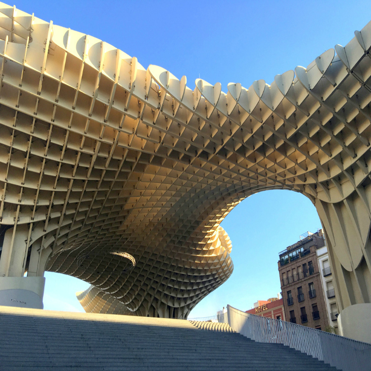 Metropol Parasol, Seville with Seen by Solomon travel blog