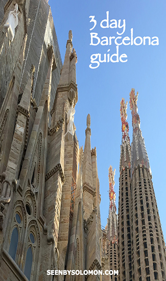 Barcelona with Seen by Solomon travel blog Pinterest pin