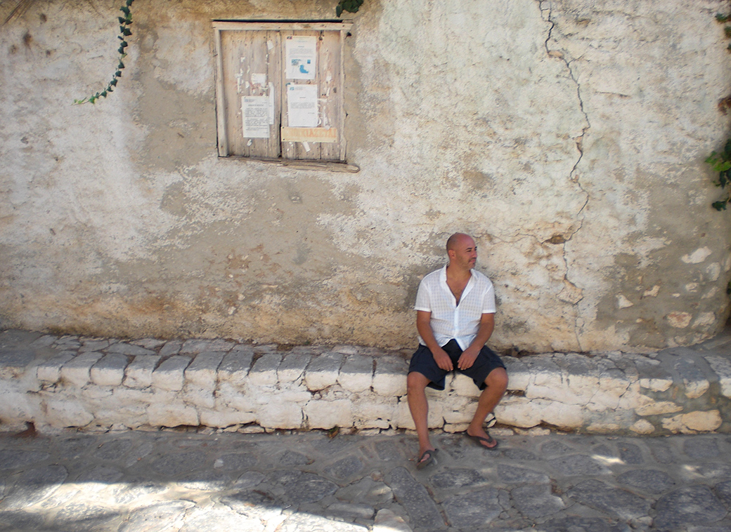 about us with David Solomon aka Seen by Solomon on the greek island of Hydra