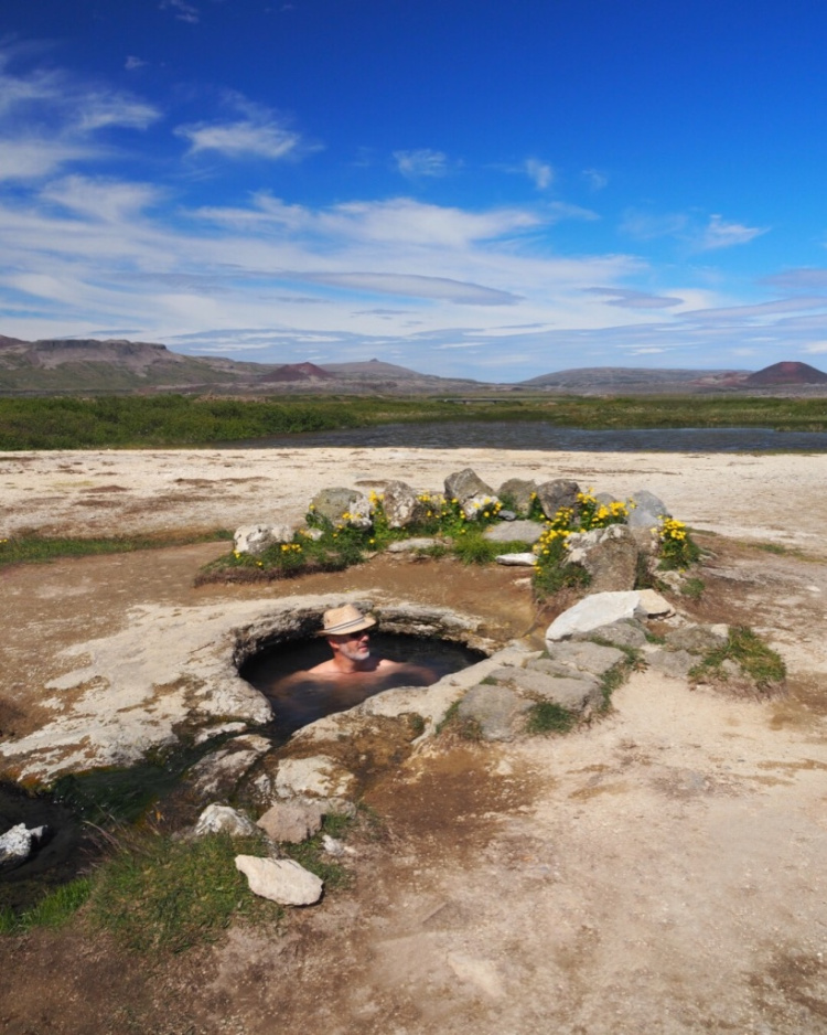 Iceland natural hot spring with David and Angela Solomon of travel blog Seen by Solomon