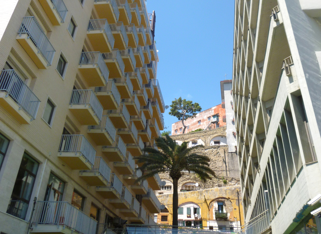 layered and built up Naples Italy side street with Seen by Solomon travel blog