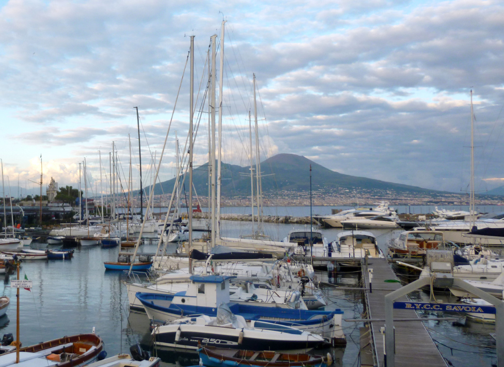 Bay of Naples with Vesuvius in the background with Seen by Solomon travel blog
