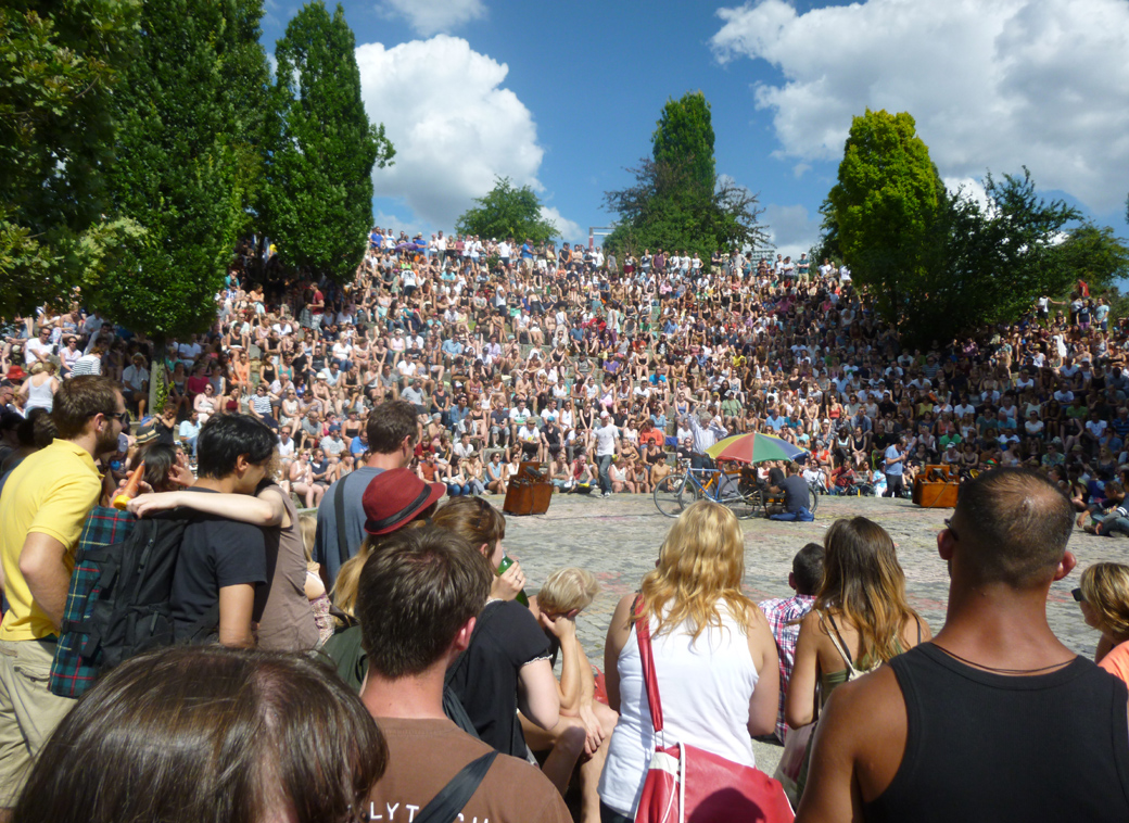 Berlin, Germany with Seen by Solomon travel blog at Bear Pit Karaoke in Mauerpark