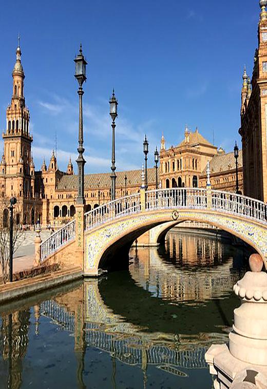 Plaza de Espana, Seville Spain with Seen by Solomon travel blog