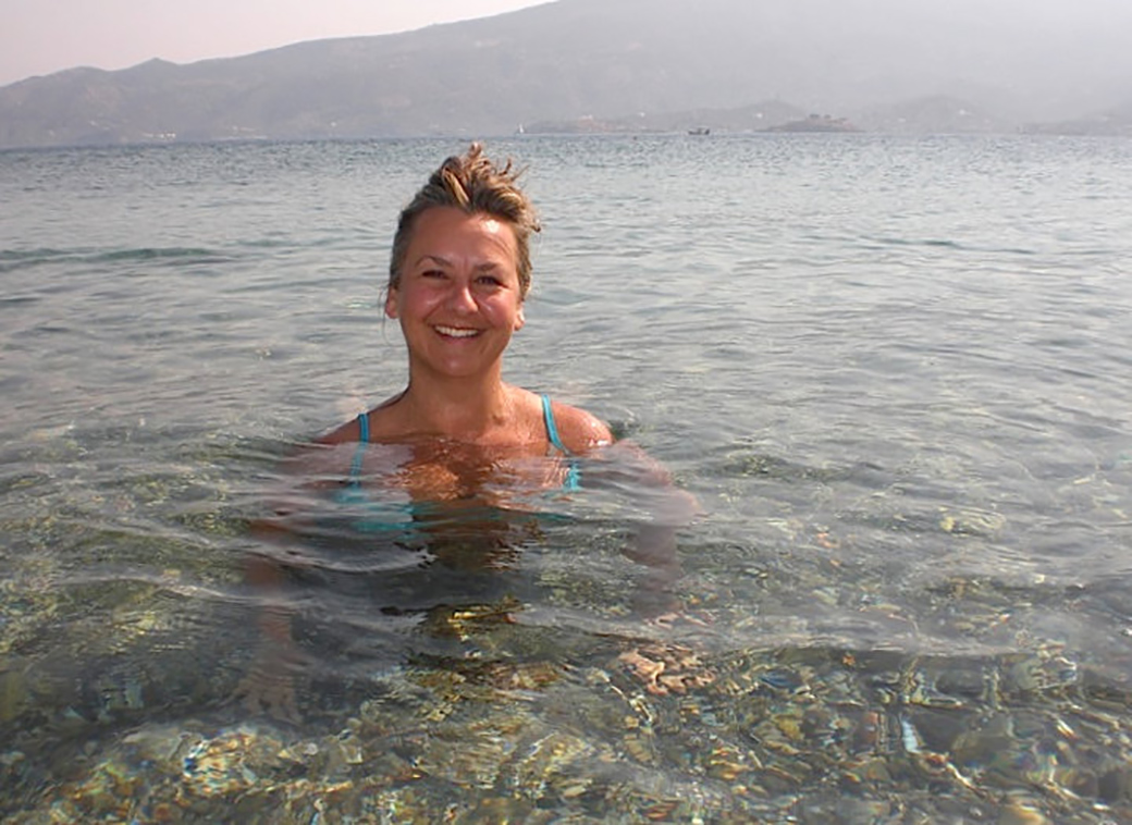 about us with Angela Solomon aka Seen by Solomon travel lifestyle blog on the greek island of Poros