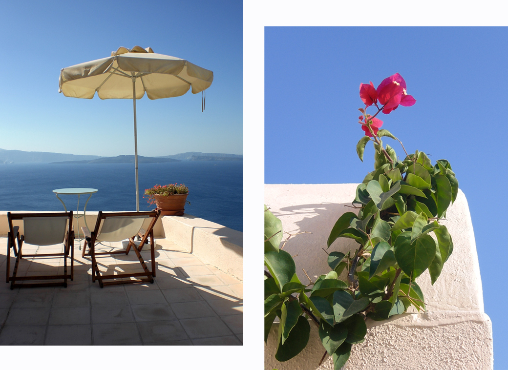 Aris Cave private terrace in Oia, Santorini Greece with Seen by Solomon travel blog
