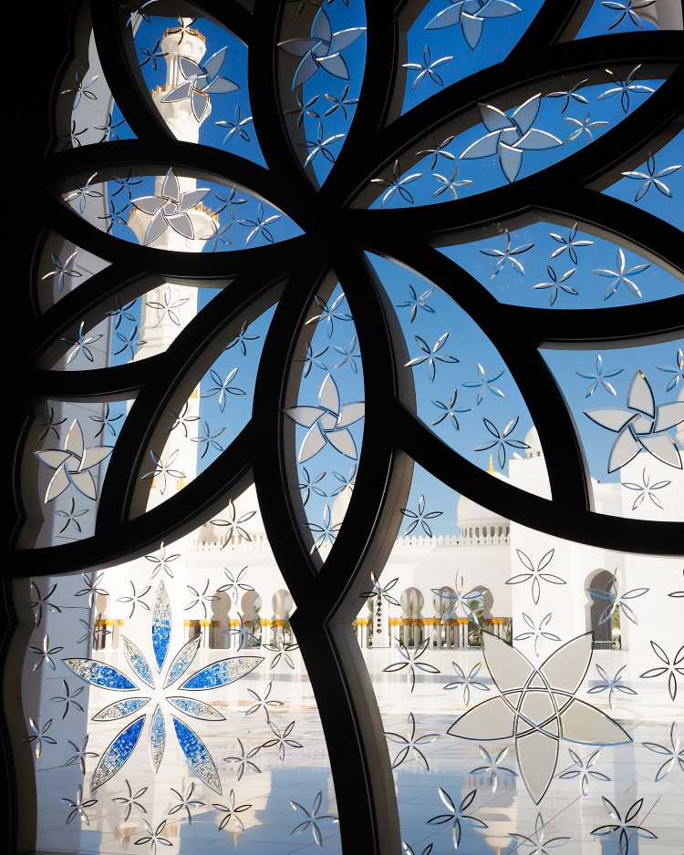 Grand Mosque Abu Dhabi with Seen by Solomon travel blog
