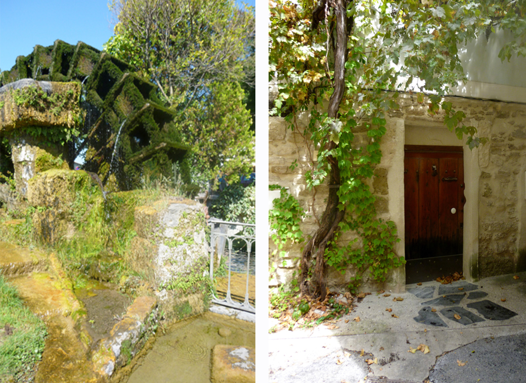 L'isle Sur la Sorgue in Provence France water mill and picturesque doorway with Seen by Solomon travel blog