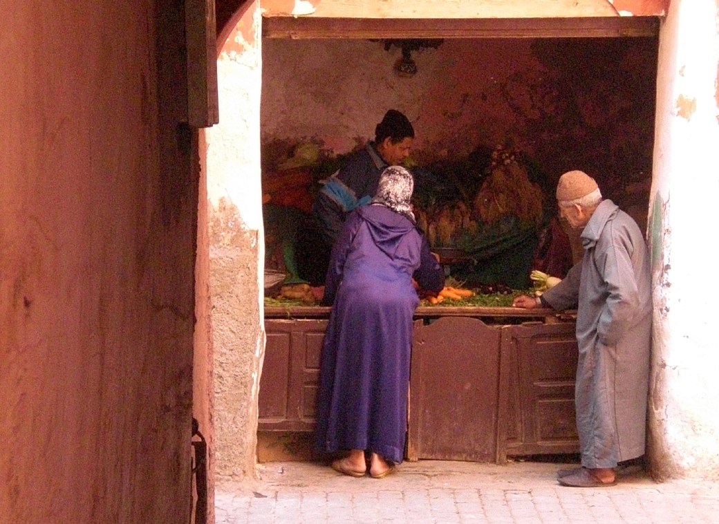 a basic local shop in a back street of Marrakech, Morocco, with Seen by Solomon travel blog