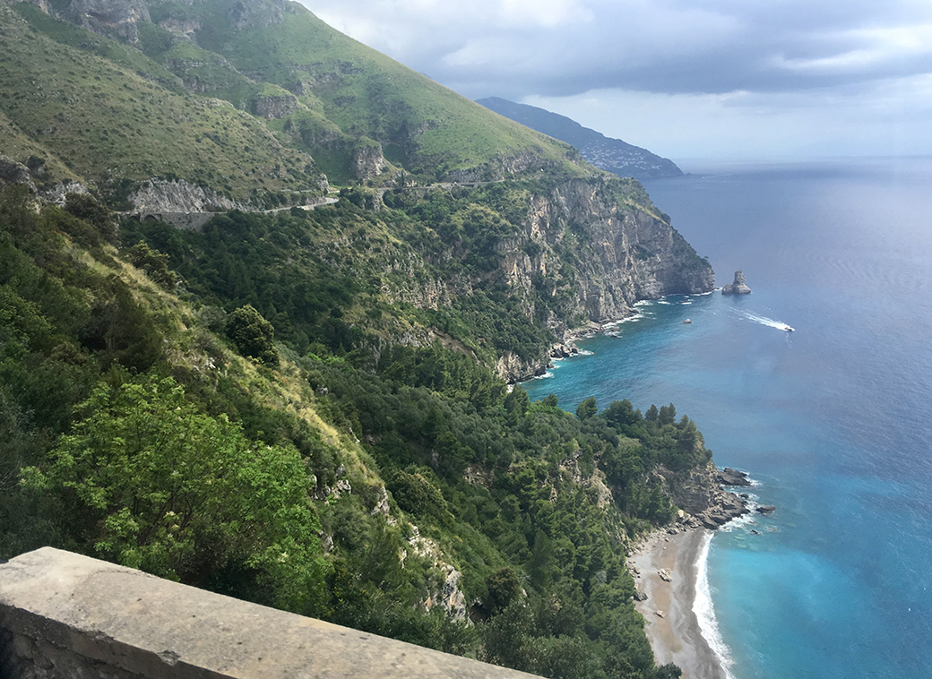 view2 of Amalfi coast, Italy, with Seen by Solomon travel blog